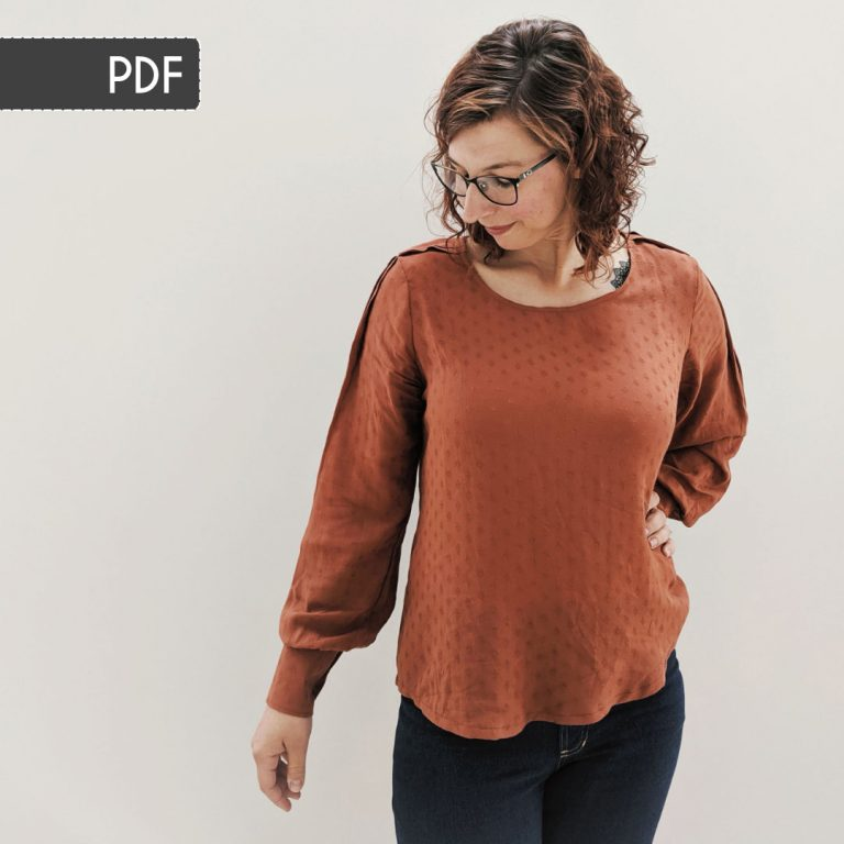 Josie Blouse Sewing Pattern: PDF Version