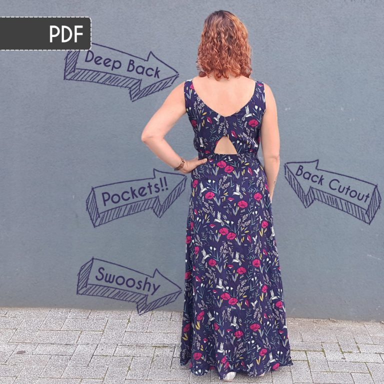 Rosalee Maxi Dress Sewing Pattern: PDF Version