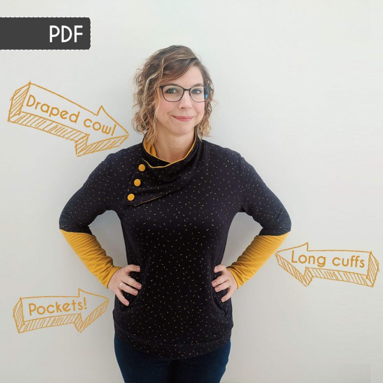 Casey Sweater Sewing Pattern: PDF Version