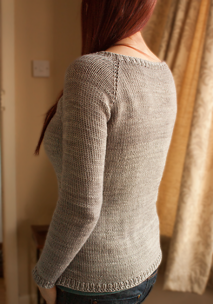 Cora Sweater Knitting Pattern - Back