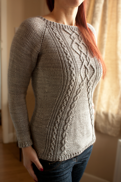 Cora Sweater Knitting Pattern - Front