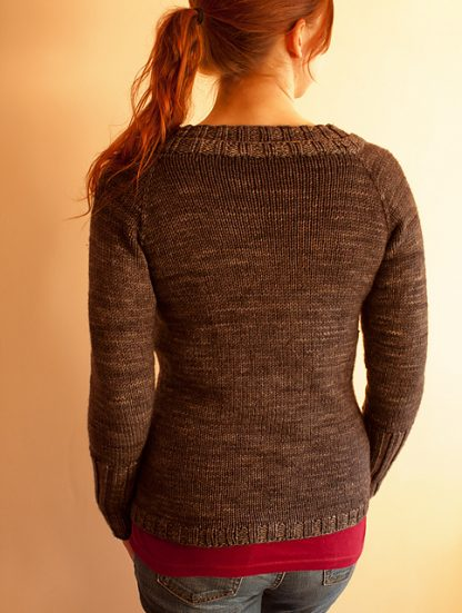 Madison Cardi : Knitting Pattern - Back