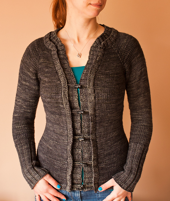 Madison Cardi : Knitting Pattern - Front